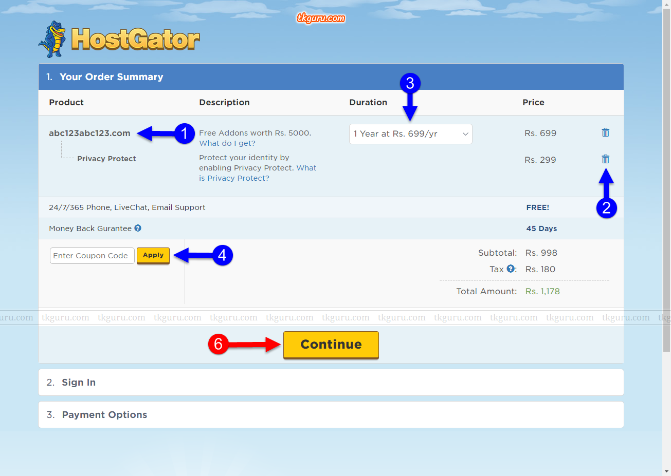 how to change domain name in hostgator